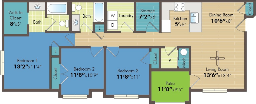 Three bedroom apartments in saratoga springs
